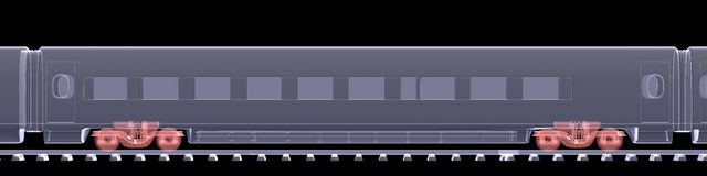 新的高速火车 免版税库存图片