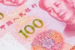 新的100个RMB票据 免版税库存图片