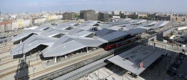 新的维也纳主要火车站 免版税库存图片