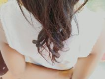 新的头发女孩黑色stlye 库存照片