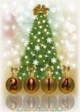 新的2014年圣诞卡 库存图片