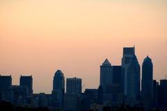 新的费城地平线 库存照片