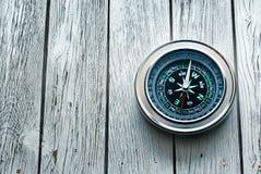 新的黑指南针 免版税库存照片