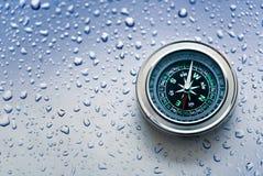 新的黑指南针 免版税库存图片