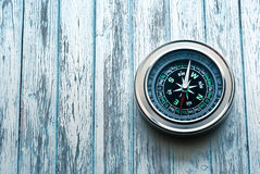 新的黑指南针 库存照片
