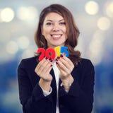 新的财政年度的标志 库存照片