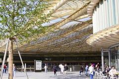 新的购物和娱乐中心列斯Halles在巴黎09 06 库存照片