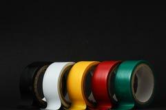 新的绝缘材料磁带卷 免版税库存照片