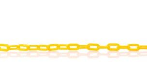 新的黄色塑料链子 beeing的概念连接集中查出的射击工作室包围的技术白色 免版税库存图片
