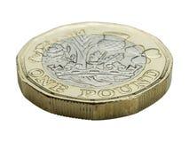 新的1英镑硬币-前方 免版税库存照片