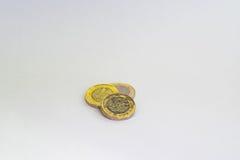 新的1英镑硬币 免版税库存照片