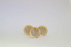 新的1英镑硬币 库存照片