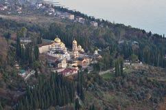 新的Athos修道院 免版税图库摄影
