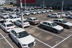 新的audi汽车 免版税库存照片