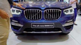 新的BMW X3汽车正面图  股票录像
