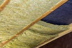 新的bui的绝热矿物矿毛绝缘纤维设施 库存图片