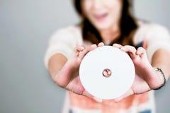 新的cd 库存照片