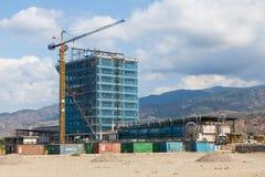 新的consctuction大厦在帝力-东帝汶的首都 库存图片
