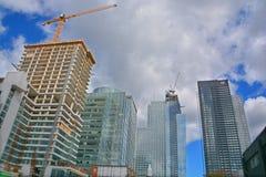新的construtions大厦 免版税图库摄影