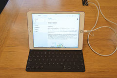 新的iPad赞成发射 免版税库存照片