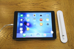 新的iPad赞成发射 库存照片