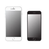 新的iPhone 6和6正 库存照片