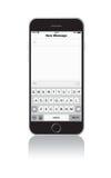 新的iPhone 6消息屏幕 免版税库存照片