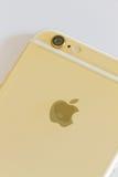新的iPhone 6金子 免版税库存图片