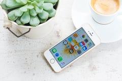 新的Iphone 5 SE 免版税库存照片