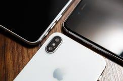 新的Iphone x智能手机式样关闭 库存图片