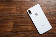 新的Iphone x智能手机式样关闭 图库摄影