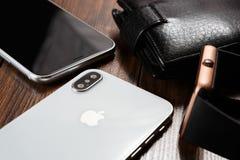 新的Iphone x智能手机式样关闭 库存照片
