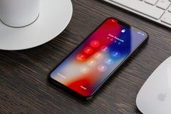 新的iPhone x 免版税图库摄影
