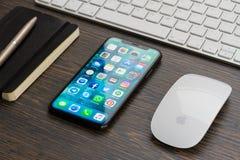 新的iPhone x 库存图片