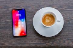新的iPhone x 免版税库存图片