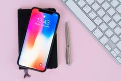 新的iPhone x 免版税库存照片