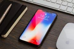 新的iPhone x 图库摄影