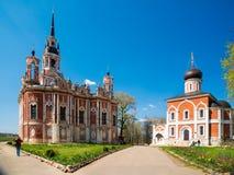 新的Nikolsky大教堂在Mozhaysk克里姆林宫,俄罗斯 免版税图库摄影
