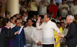 新的oathtaking的总统 库存图片