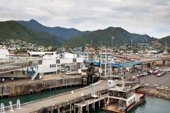 新的picton端口西兰 免版税库存图片