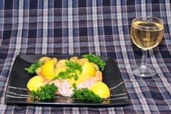 新的pototes三文鱼苏格兰人 免版税库存图片