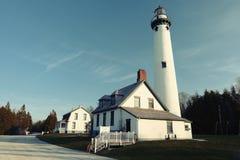 新的Presque小岛灯塔,在1870年修造 免版税图库摄影