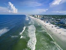 新的Smyrna海滩鸟瞰图  库存图片