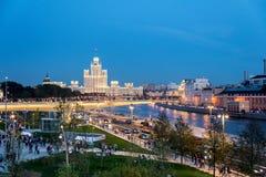 新的Zaryadye公园在莫斯科的中心 免版税库存照片