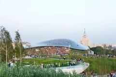 新的Zaryadye公园在莫斯科的中心 库存图片