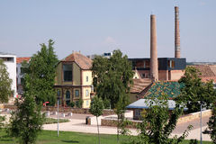 新的Zsolnay设计和会展中心在佩奇匈牙利 库存照片
