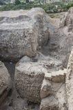 新石器时代的塔九米8000 ac考古学站点告诉ES苏丹 巴勒斯坦人耶利哥 图库摄影