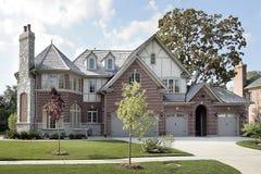 新砖建筑的家 库存图片