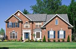 新砖的房子 免版税库存照片