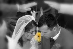 新祝福的夫妇 库存图片